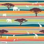 SERENGETY SAFARI PLAINS MULTI ORGANIC SEWING CRAFT QUILT FABRIC *Free Oz Post