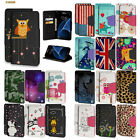 Diary-Style Faux Leather Folio Case w/ID Slot+Stand Flip Cover for Samsung Model