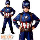 Classic Captain America Civil War Boys Fancy Dress Superhero Kids Marvel Costume