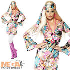 Hippie Chic 1960S Fancy Dress Hippy Ladies Sixties Costume 60's-70's Outfit 8-18