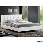 Baxton Studio Vino Modern Queen-size Bed with Upholstered Headboard