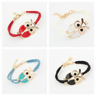 Korean Retro Women's Cartoon Owl Bracelet Charm Bracelet Friendship Gift New