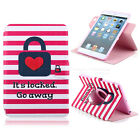 Lovely Wallet Flip Leather 360° Stand Soft Case Cover For Apple iPad Mini 1/2/3
