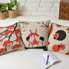 Modern Colorful Scenery Pillow Case Sofa Decor Cushion Cover Square Linen 17""