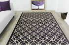 Contemporary Trellis Pattern Purple Rugs Small Large New Modern Runner Rugs