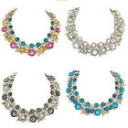 New Luxury Crystal Flower Necklace Chain Women Bib Collar Necklace Jewelry Gift