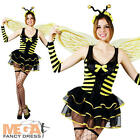 Bumble Bee Ladies Fancy Dress Womens Bumblebee Bug Animal Adults Costume Outfit