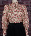 FRONTIER CLASSICS Victorian Rose Print Prairie Blouse Dickens Cowgirl Steampunk