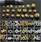 Kyпить 4mm 5mm 6mm 8mm 10mm 12mm Gold/Silver Metal Loose Spacer Beads Jewelry Making на еВаy.соm