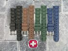 New 19mm Victorinox Swiss Army Genuine Rubber Strap Diver Watch Band Black Green