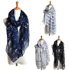 Winter Women Scarf Bicycle Pattern Print Long Scarf Ladies Soft Voile Wrap Shawl