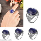 HX 1PC Vintage Court Oval Color Change Ring Fashion Womens Girls Gift Retro