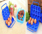 Outdoor Folding Plastic Carry 2/6/12 Eggs Box Case Outdoor Storage Container