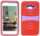 RED & LILAC U-Case Hybrid Cover Case for Samsung Galaxy Grand Prime