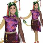 Girls Jinafire Long Monster High Fancy Dress Costume Halloween Child Kids Outfit