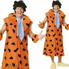 Mens Deluxe Fred Flintstone Halloween Cartoon Fancy Dress Costume Outfit