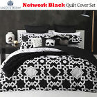 Network Black White Geometric Quilt Cover Set by Logan & Mason - QUEEN KING
