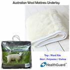 Machine Washable Fitted AUSTRALIAN WOOL Underlay Topper Underblanket - ALL SIZES