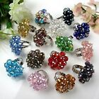 Women Ladies Jewelry Faceted AB Crystal Glass Cocktail Finger Ring Gift US6