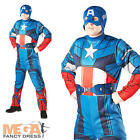 Captain America Men's Avengers Fancy Dress Marvel Superhero Adult Costume + Mask