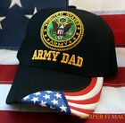 US ARMY PROUD DAD HAT CAP WOWAH FORT PARACHUTE SPECIAL OPS CAV ARTI PIN UP PATCH