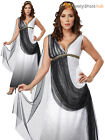 Ladies Deluxe Roman Empress Costume Adult Greek  Goddess Toga Fancy Dress Outfit