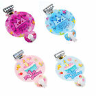 6pcs Blowouts Pink Blue Design Whistles Kids Happy Birthday Party Decoration