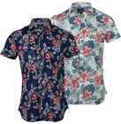 Mens Fashion Hawaiian Floral Shirt Short Sleeve Casual 100% Cotton