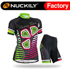005 Nuckily Women's Summer Sport Cycling Jersey+Padded Shorts Short Sleeves Set