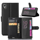 (9 Colors) Leather Case Flip Wallet Cover For Sony Xperia X performanle