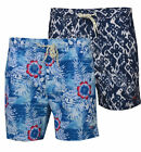 Mens Hawiian Floral Swim Shorts Beach Contrast Summer Mesh Lined