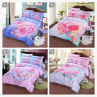 New Floral Quilt/Duvet/Doona Cover Set New Cotton DB/Queen/King Size Bed Linen