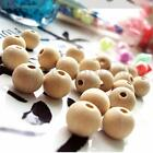Multi Size Natural Round Wood  Unpainted Wooden Round Beads