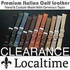LocalTime Watch Strap Premium Italian Calf Leather Custom Made 18 19 20 21 22 mm