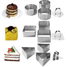 Mason Cash Stainless Steel Dessert Moulds Round Triangle Square Cake Rings Tins