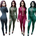 Sexy Women's Long Sleeve Bodysuit Bodycon Jumpsuit Pants Playsuit Clubwear New