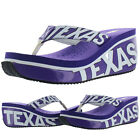 Volatile Republic Texas TCU Horned Frogs Women's EVA Wedge Thong Sandals