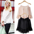 Women Sexy Long Sleeve Off Shoulder Party Club Shirt Casual Blouse Top T Shirt