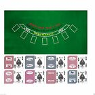 Blackjack Layout Premium Felt + 2 Decks Las Vegas Casino Playing Cards