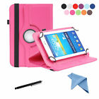 EEEKit PU Leather Flip Folio Rotating Stand Cover Case+Stylus for 7 inch Tablet