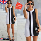 UK Sexy Women Ladies Summer Casual Sleeveless Cocktail Evening Party Mini Dress
