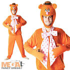 Deluxe Fozzy Bear The Muppets Men's Fancy Dress 1980s TV Adult Costume Outfit