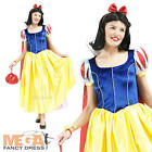 Snow White Disney Deluxe Ladies Fancy Dress Princess Womens Adults Costume New