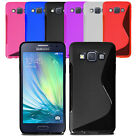 Slim Soft Wave Gel Case Soft Phone Back Cover For Samsung Galaxy A3 & Screen