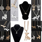 CHIC Dog Puppy Pendant Necklace Box Chain Bulldog Dachshund Shepherd Charm New