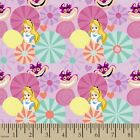 DISNEY ALICE IN WONDERLAND TEA TIME CAT CRAFT SEWING QUILT FABRIC Free Oz Post