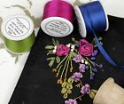 SILK RIBBON EMBROIDERY SPOOLS -  50 COLORS - 4 WIDTHS - THREADART