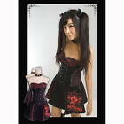 Q112 Punk Rave Kera Dolly Lolita Gothic Printing Corset Dress