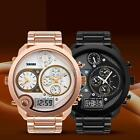 Fahion SKMEI Three Movement Round Dial Quartz & Digital Waterproof Wrist Watch
