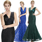 Sexy Cocktail Long Formal Bridesmaid Evening Prom Ball Gown Party LACE Dresses